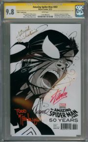 Amazing Spider-man #692 Martin 1980s Venom Variant CGC 9.8 Signature Series Signed x5 Stan Lee